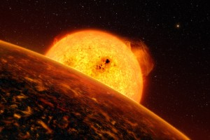 An artist's conception of CoRoT-7 b, another ultra-short-period planet.