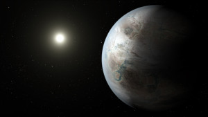 Artist's conception of Kepler-452 b. From https://en.wikipedia.org/wiki/Kepler-452b#/media/File:Kepler-452b_artist_concept.jpg.
