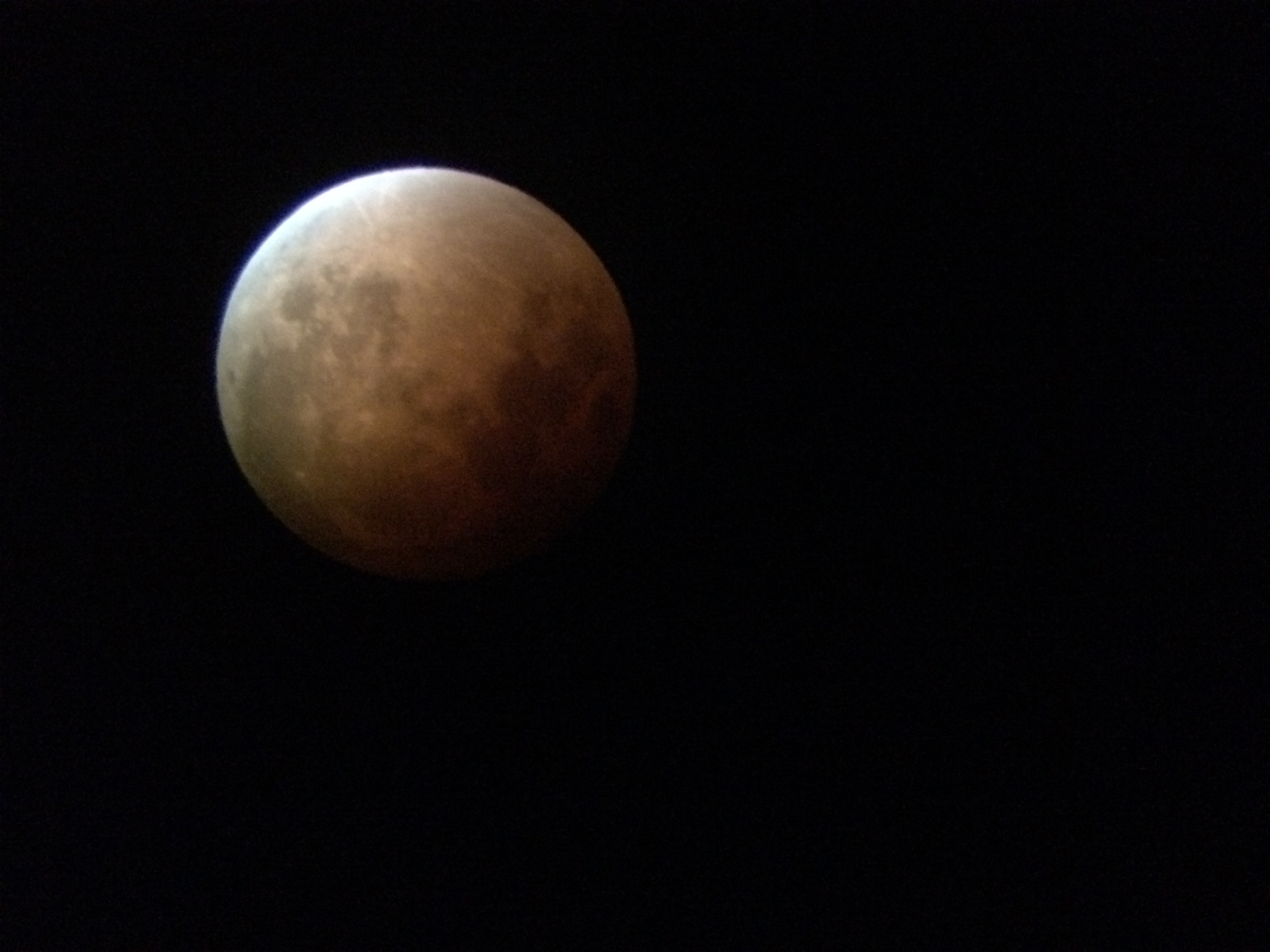 The Super Blood Moon from Boise State's campus.
